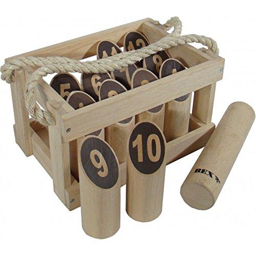 Bex 511-350 - Holzbox Nummern Kubb, Wurf- und Schießspiel