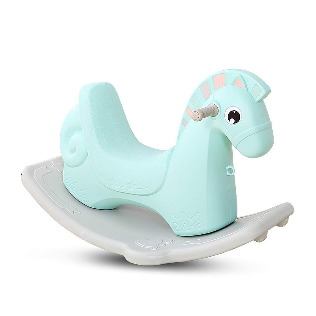 Kylinmmn Kids Environmentally Friendly PP Material Rocking Horse Rocker Horse Toy Child Rocking Horse for Children's Day Birthday Gift (Color : B)