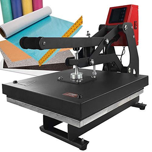 "15"" x 15"" Auto-Opening Clamshell Heat Press + Color Theory Glitter Heat Transfer Vinyl Kit"