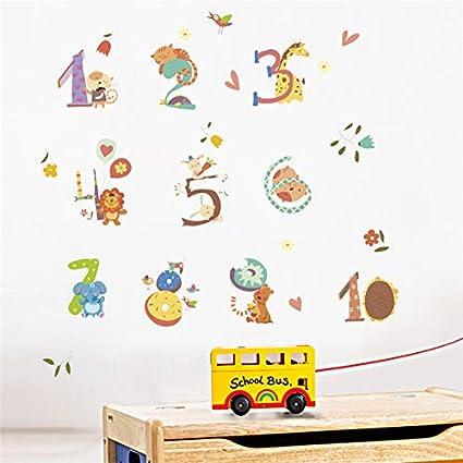 Cartoon Animals Arabic Alphabet Wall Stickers Bedroom