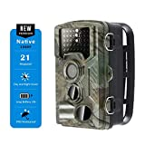 Browan Trail Game Camera, Scouting Hunting Cam 21MP 1080P FHD Night Vision 65ft, with 120° Wide View Angle, 2.4' LCD, Motion Activated 0.2s Trigger Speed with 3 PIR, IP66 Waterproof