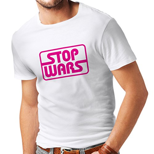 lepni me Men's T-Shirt Stop Wars - Peace Quotes, Political Anti War Slogans