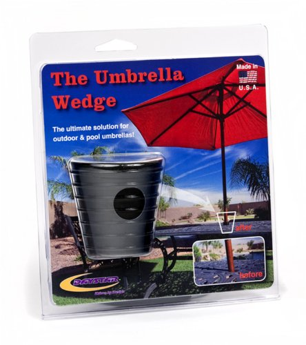 Daystar, Umbrella Wedge, Black, fits most patio umbrella shafts, designed to reduce moving and hold your umbrella in place, PA20255BK, Made in (Drive Red Wedges)