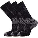 FASTBON Compression Socks with Snowflakes Printing for Men's and Women's (3, 6 Pairs) for Running,Travel,Party 10-20mmHg