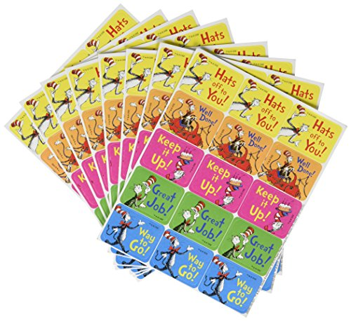 Eureka Dr Seuss Name Tags - 120 Per Pack - The Cat in the -