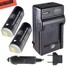 BM Premium (2 Pack) NB-9L Battery and Charger Kit For Canon PowerShot N, N2, Elph 510, Elph 520, Elph 530 HS, SD4500 IS Digital Camera