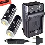 BM Premium (2 Pack) NB-9L Battery And Charger Kit For Canon PowerShot N, N2, Elph 510, Elph 520, Elph 530 HS, SD4500 IS Digital Camera