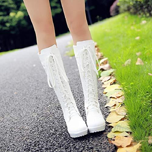 Cute girl Stiefel Damen Winter Cos Cos Cos Schuhe Weiß Schwarz Hohe Rohr Vorne Mit Martin Stiefel Mit Tide Frauen Stiefel 9628f9