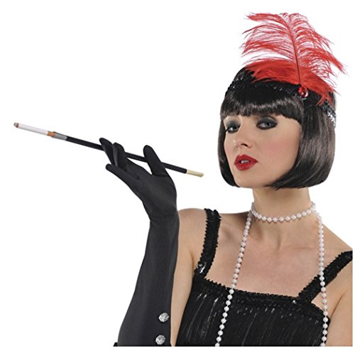 Roaring '20s Costume Party Cigarette Holder, Black, Plastic, 11 1/4