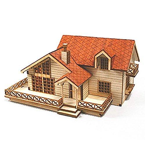 Desktop Wooden Model Kit Garden House B With a Large Loft Farbe: Garden House B, Model: YM 635, Toys & Gaems