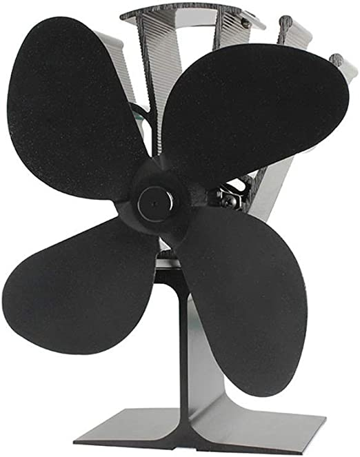 TnSok Ventilador de Calor Durable 4 Palas De Madera Chimenea ...