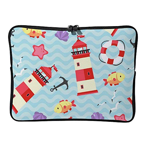 Cute House Blue Ocean 12 Inch Protective Laptop Sleeve Ultrabook Notebook Carrying Case Compatible with MacBook Pro MacBook Air Tablet Briefcase Bag