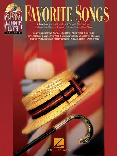 FAVORITE SONGS SING IN THE   BARBERSHOP QUARTET VOL.3     BK/CD