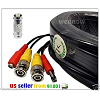 WennoW 100FT BNC Male Cable for Swann / Q-see / Zmodo / Indoor or Outdoor CCTV security camera