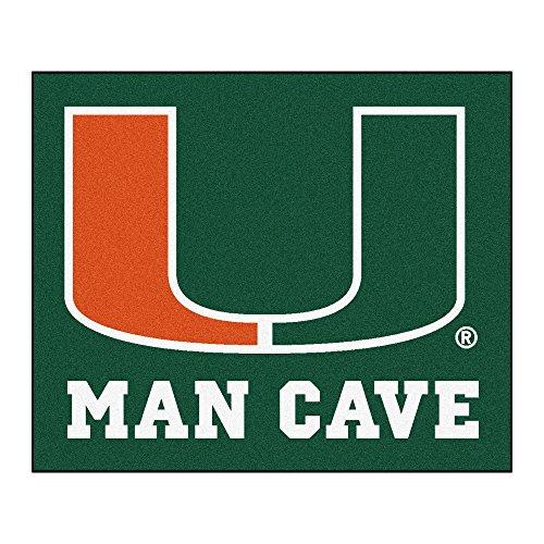 NCAA University of Miami Hurricanes Man Cave Tailgater Rectangular Mat Area - Miami Tailgater Rug