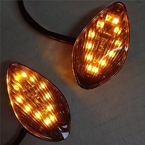 Euro LED luz señal de giro montaje empotrado para 2004 2005 Honda CBR 1000 RR CBR1000RR humo: Amazon.es: Coche y moto