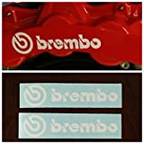 R&G Brembo HIGH TEMP Brake Caliper Decal Sticker Set of 2 (White)