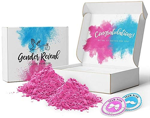 (Excite Colors - Gender Reveal Powder | Pink or Blue 2lb | Car Tire Burnout, Exhaust Smoke, Tannerite)