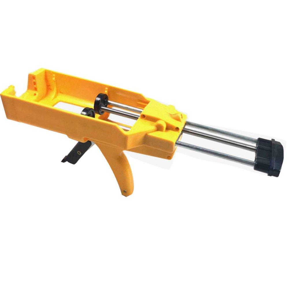 LUBAN Yellow Double Pipe Manual Glue Gun Sausage Labor-saving Caulking Gun
