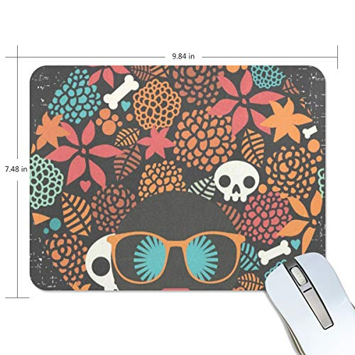 Mouse Pad Halloween Skull Gaming Mousepad Laptop Small Thick Mouse Mat Black Marvellous Mouse Pads]()