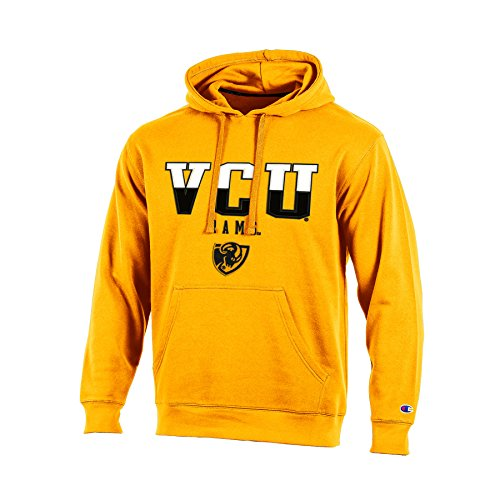 Champion  Chafk  Ncaa Virginia Commonwealth Rams Adult Men Pullover Hooded Fleece  Xx Large  Gold