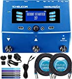 TC Helicon VoiceLive Play Vocal Effects Pedal Bundle with 12V 400mA DC Power Supply, Blucoil 2-Pack of 20-FT Balanced XLR Cables, 6-FT Stereo Aux Cable, and 5-Pack of Reusable Cable Ties