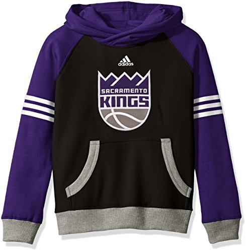 NBA Youth 8-20 Sacramento Kings Robust Pullover Hoodie-Black-M(10-12) Sacramento Kings Adidas Pullover