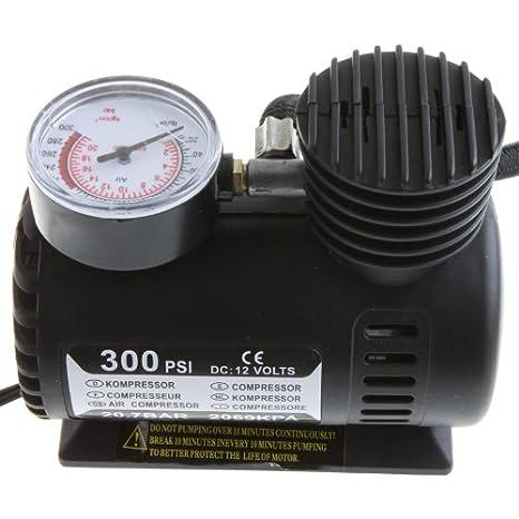 KKmoon Compresor Eléctrico de Aire / Inflador 300PSI Portable de Coche Auto 12V: Amazon.es: Coche y moto
