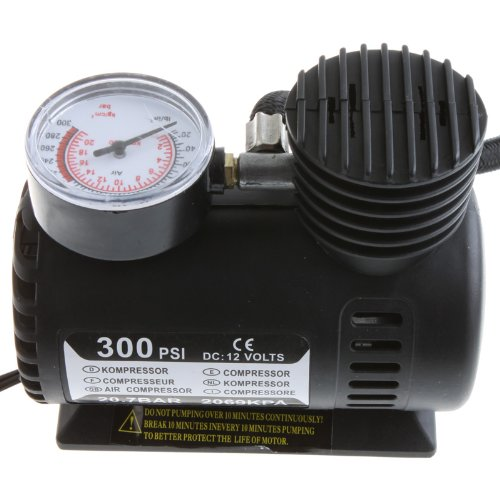 KKmoon Portable Car/Auto 12V Electric Air Compressor/Tire Inflator 300PSI