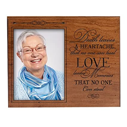 Buy In Loving Memory Cherry Photo Frame Holds 5x7 Photo Death Leaves