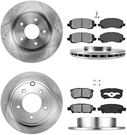 08 Fit Chrysler Sebring Sdn OE Replacement Rotors w//Ceramic Pads F+R See Desc.