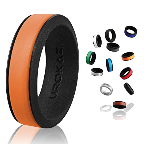 UROKAZ - Silicone Wedding Ring, The Only Ring That Fits Your Lifestyle - Whether You are Single or Married, Ring is Right for You - It is Fashionable, Flexible, and Comfortable -