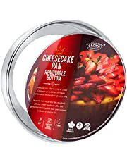"""Crown Cheesecake Pan 6 Inch, 3"""" Deep, Removable Bottom Cake Pan, Heavy Duty, Pure Aluminum, Made in Canada"""