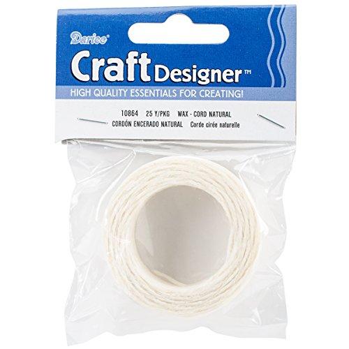 Darice 10864 Natural Waxed Nylon Cording, 25-Yard