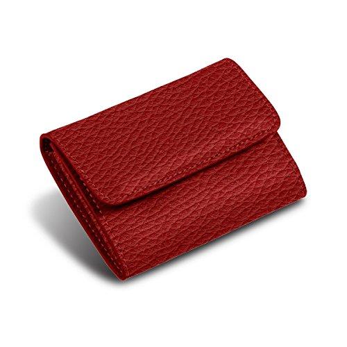 Lucrin - Kleiner Geldbeutel - Rot - Leder genarbt