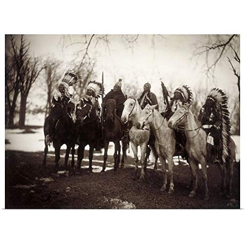 GREATBIGCANVAS Poster Print Entitled Native American Chiefs by Edward Curtis 40