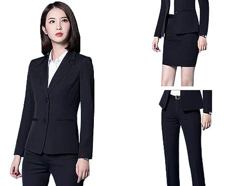 c9e59ae1908 [えみり] レディース スーツ ジャケット パンツ タイトスカート 3点セット 2ボタン オフィス ビジネス