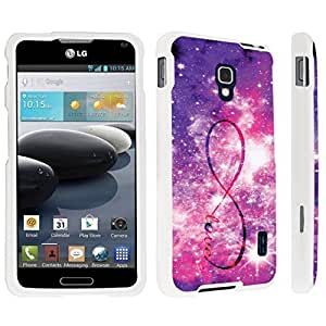 DuroCase ? LG Optimus F6 Hard Case White - (Infinity Love)