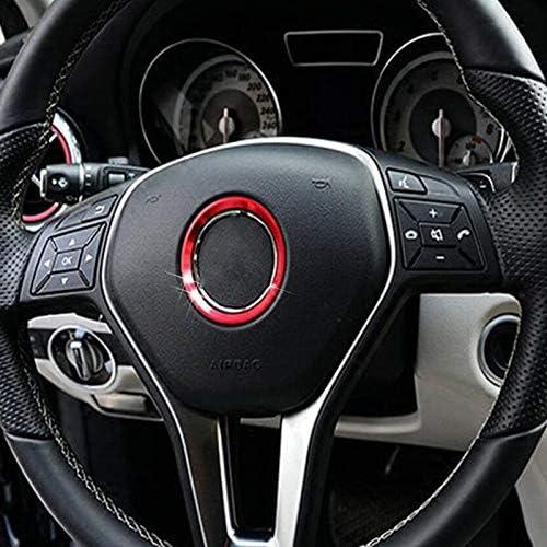 ACAMPTAR 1X Red Steering Wheel Center Logo Decoration Cover Ring Trim for Mercedes C E CLA GLC GLE Class 2015+