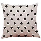 Throw Pillow Cases, Kimloog Feather Arrow Black Cotton Linen Cushion Cover Home Car Sofa Decorative Pillowcase 18 X 18 Inch (H)