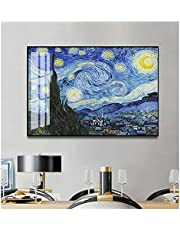 Canvas Frame Decor Painting Home Wall Decor Starry Night by Vincent Van Gogh Famous Artist Art Print Wall Picture