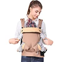 Ergonomic Soft Cotton Baby Carrier (Brown)