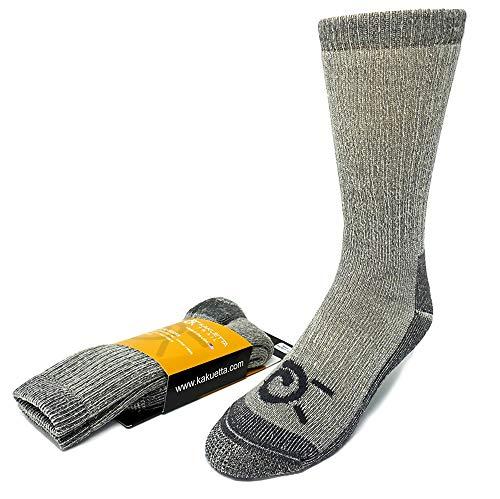 Kakuetta Trail Merino Wool Socks Mens, Women, Hiking and Athletic Use, Mens Boot Socks, Large