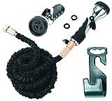 Vela 50ft Flexible Garden Hose – Expandable Heavy Duty Flex Water Hose Hose Holder & Hose Nozzle w/ 9 Spray Settings – BEST As Seen on TV Kink-Free Garden Hose for Car Washing & Pressure Washing