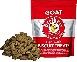 lovely Brothers Complete Dog Food Goat Biscuit Treats, 16 oz