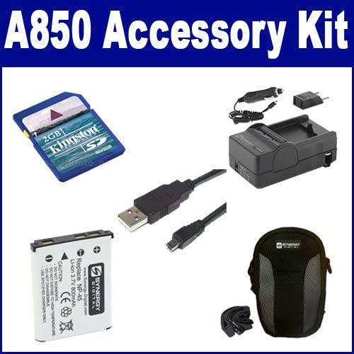 Fujifilm Finepix A850 Digital Camera Accessory Kit Includes: SDNP45 Battery USB8PIN USB Cable SDM-141 Charger SDC-21 Case KSD2GB Memory Card