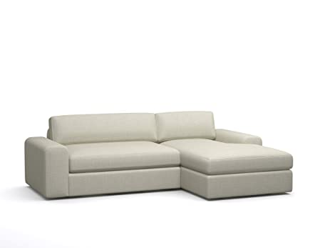 BenchMade Modern Custom Couch Potato Sofa With Chaise, 101u0026quot;, Standard  Fabric