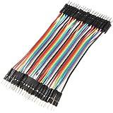 40x 10cm Breadboard Steckbrücken Drahtbrücken Stecker Male to Male Jumper Wires Kabel