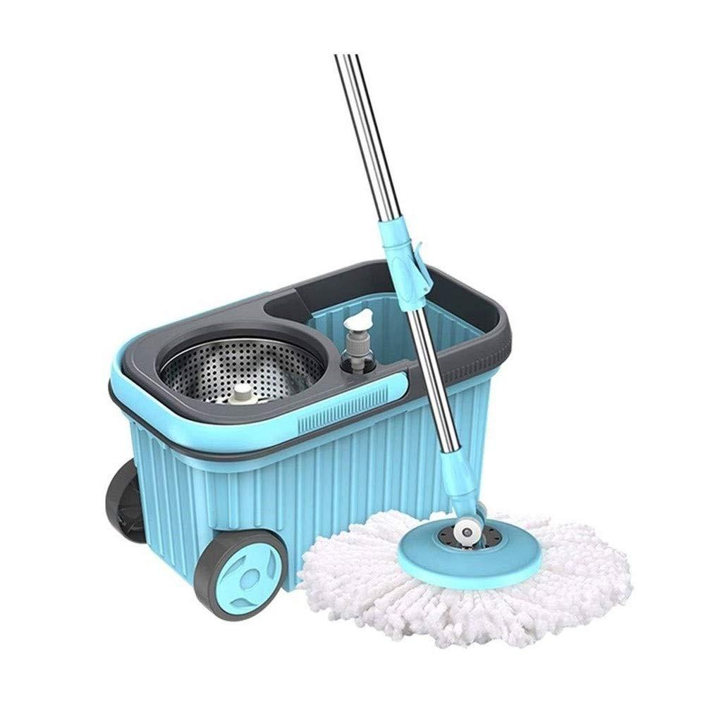 RUIMA ロータリーモップダブルドライブ木の床モップ世帯の乾いた乾式二重使用手洗いモップモップバケツ B07FT6NGSP