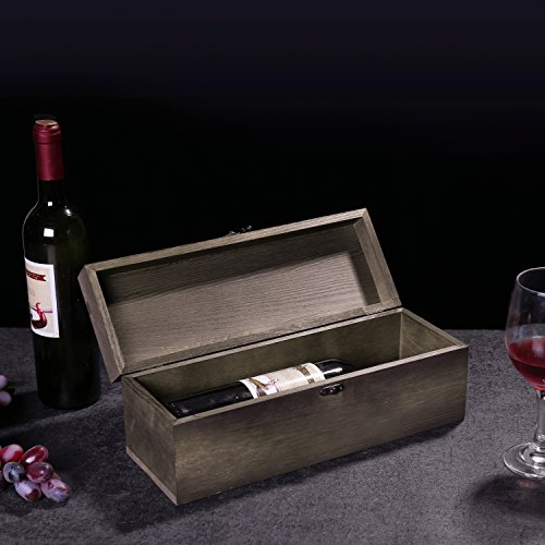MyGift Rustic Burnt Wood Wine Gift Box & Carrying Case with Chalkboard Label by MyGift (Image #5)